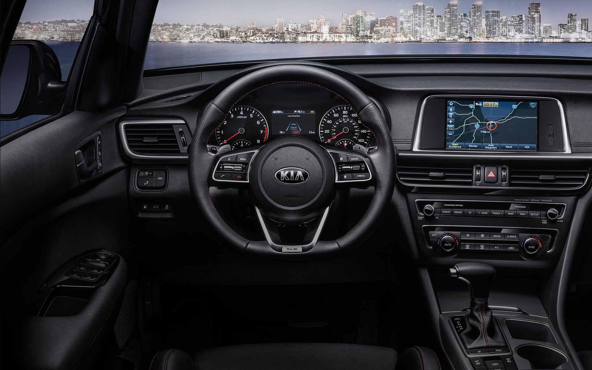 New 2019 Kia Optima Driver's Command Center.