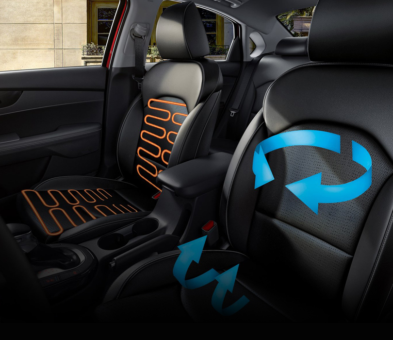 New 2020 Kia Forte Heated and Ventilated Front Seats