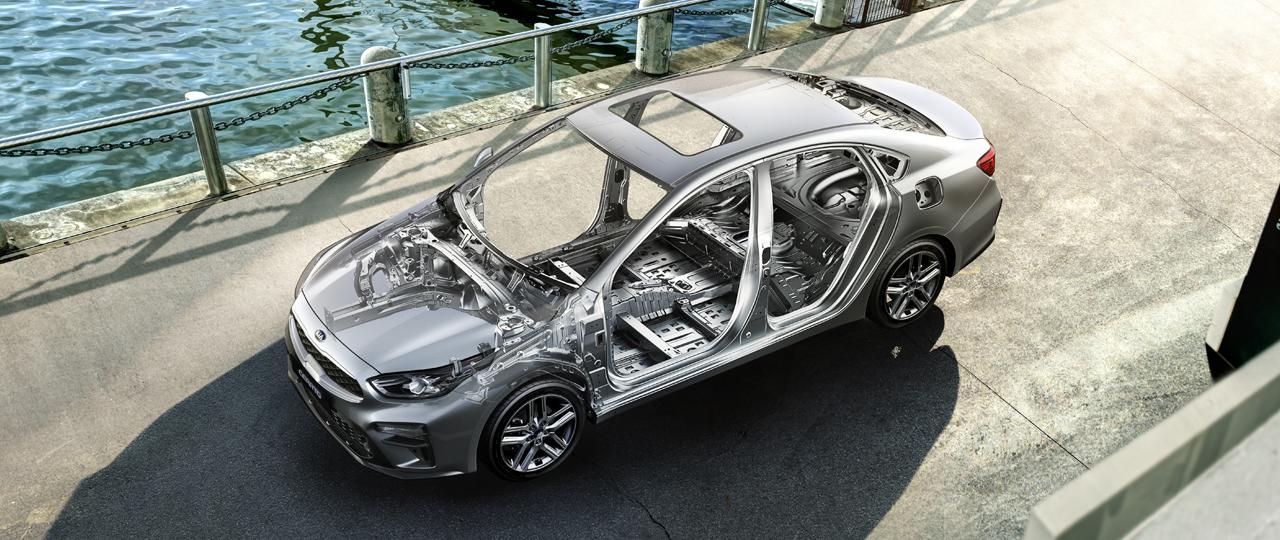 New 2020 Kia Forte 54% Advanced High-Strength Steel