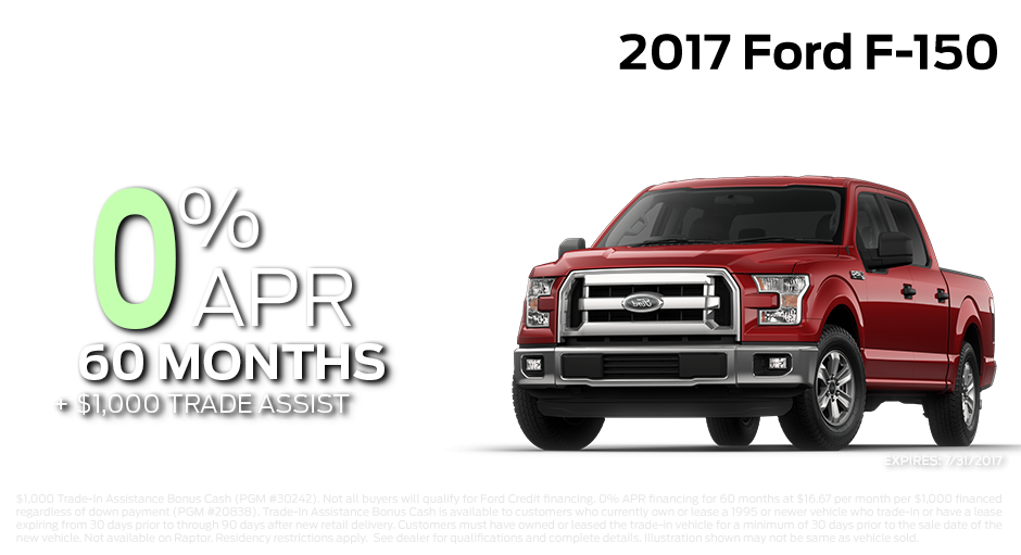 Check out these new car finance specials on the all new Ford F-150. Contact our dealership in Steamboat Springs for more details!