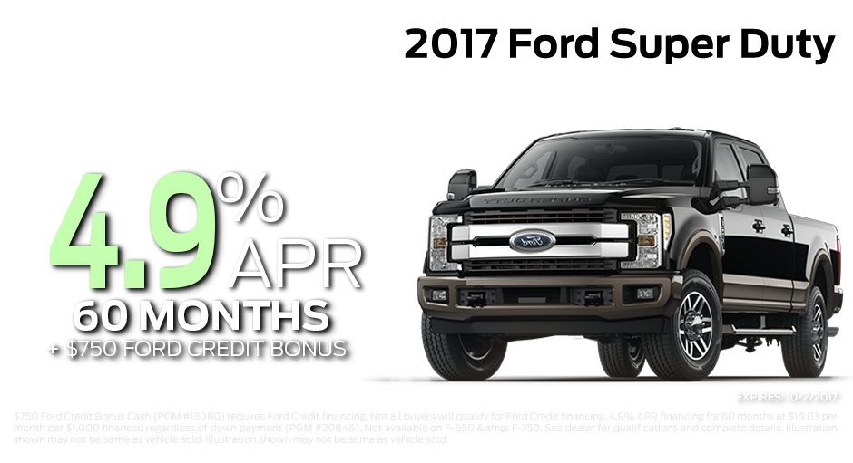 Check out these new car finance specials on the all new Ford Super Duty. Contact our dealership in Steamboat Springs for more details!