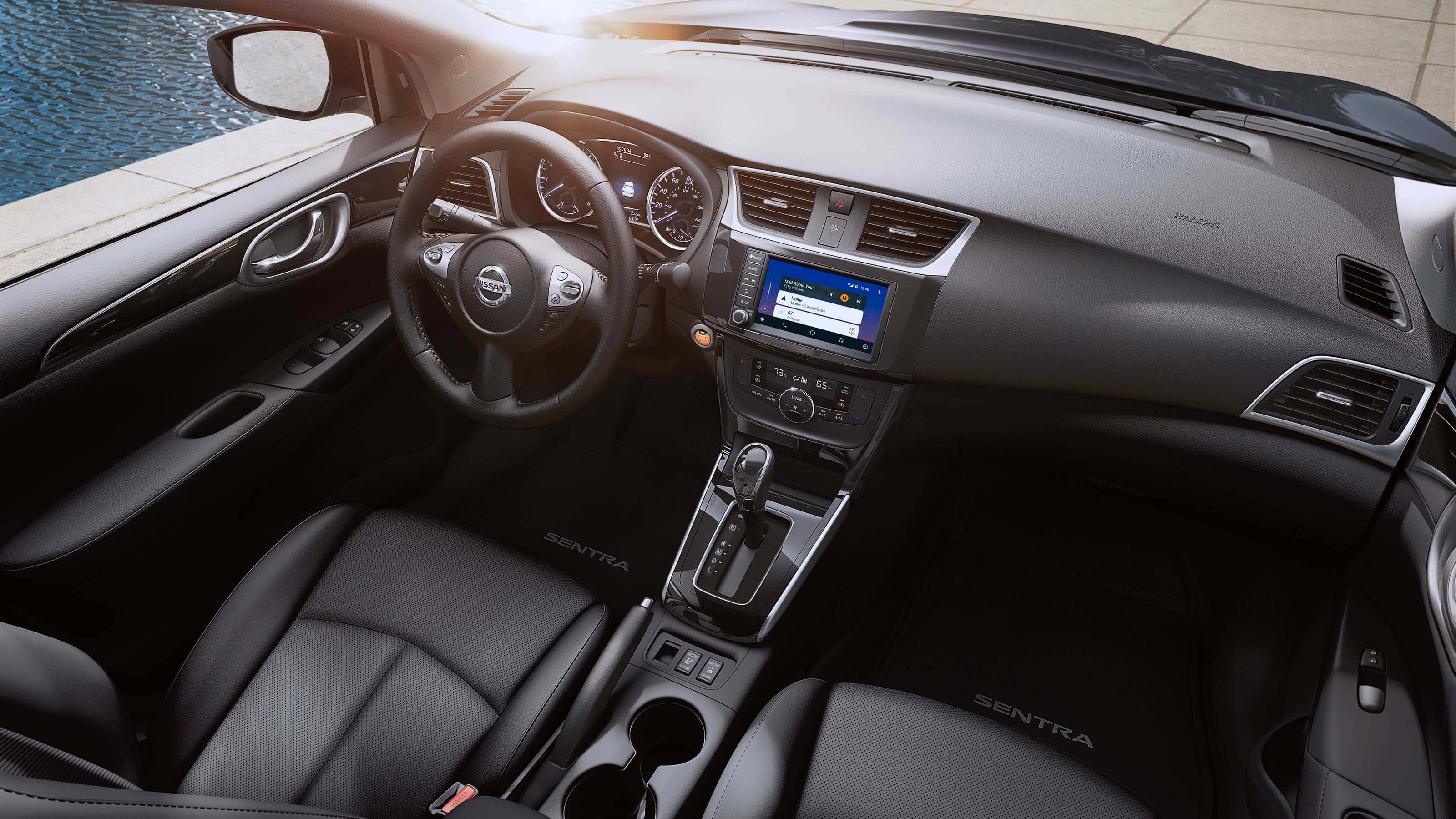 New 2019 Nissan Sentra Piano Black Trim and Metallic Accents