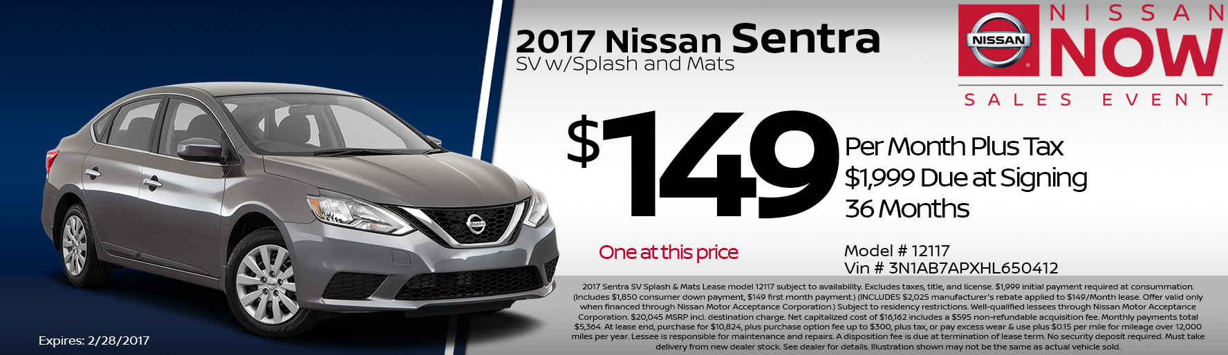 Nissan Sentra special deal in Mission Hills