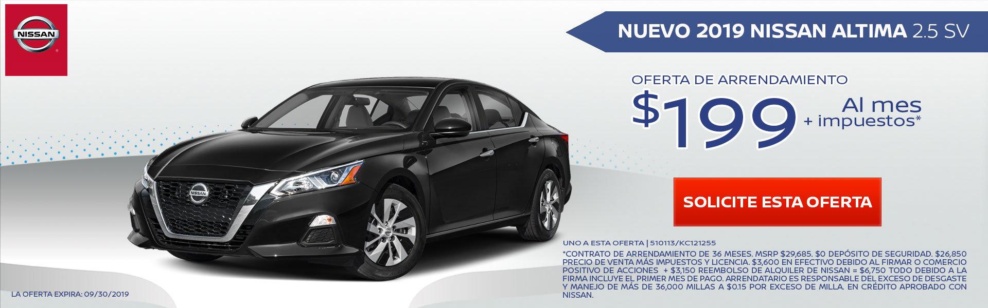 Mire estas nuevas ofertas especiales de alquiler y financiamiento para el flamante Nissan Altima. ¡Pida más información a nuestro concesionario de El Monte!