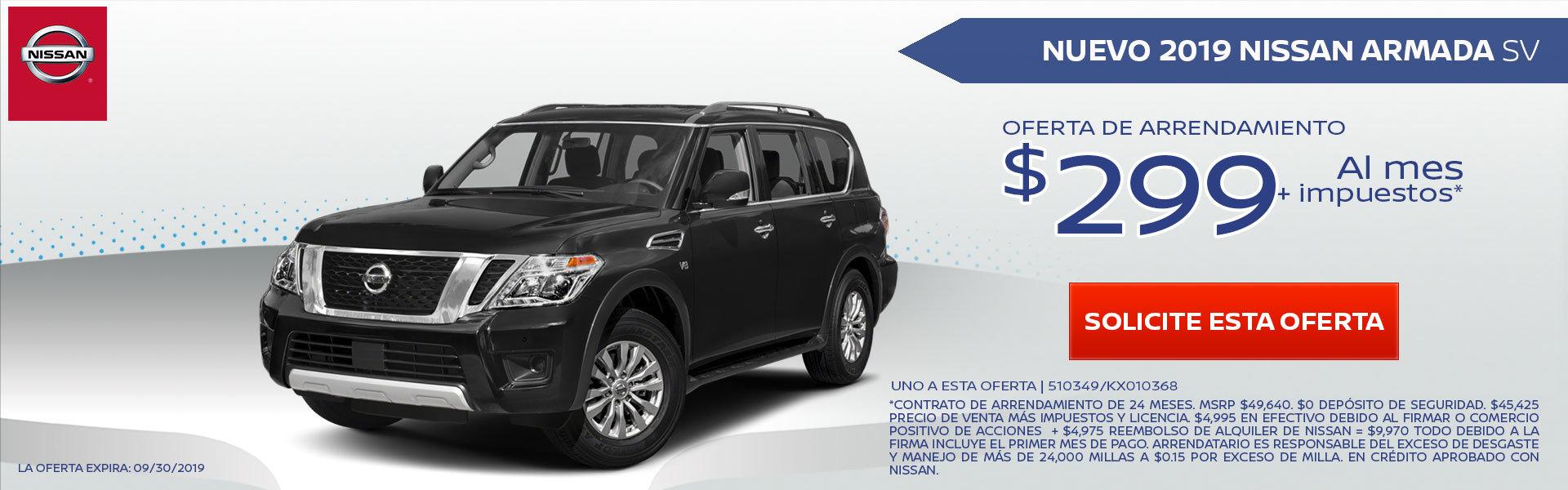 Mire estas nuevas ofertas especiales de alquiler y financiamiento para el flamante Nissan Armada. ¡Pida más información a nuestro concesionario de El Monte!