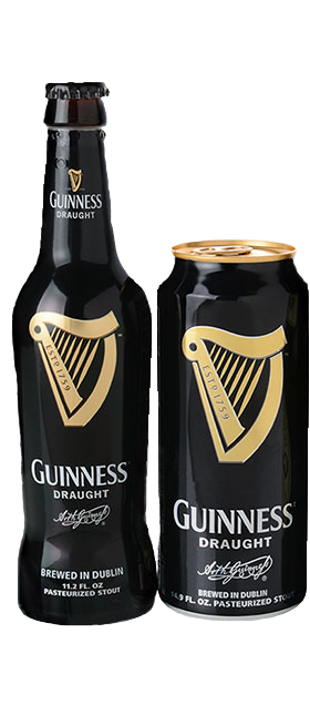 Guinness Draught Stout beer available at Brendans Irish Pub