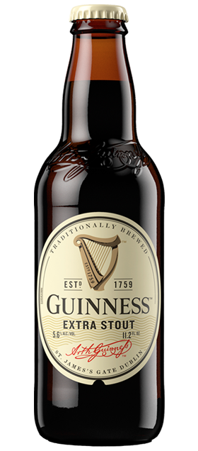 Guinness Extra Stout beer available at Brendans Irish Pub