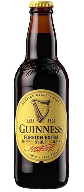 Guinness Foreign Extra Stout beer available at Brendans Irish Pub