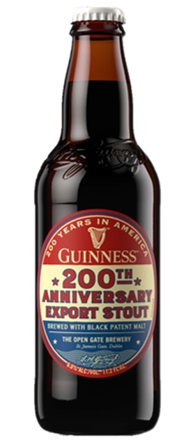 Guinness 200th Anniversary Stout beer available at Brendans Irish Pub