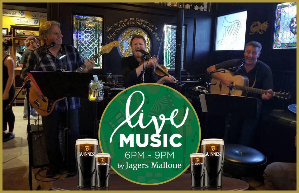 live music by Jagers Mallone at Brendan's Irish Pub Newbury Park in Ventura County