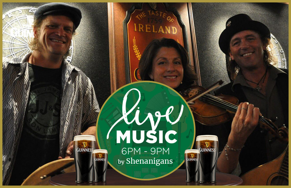 live music by Shenanigans at Brendan's Irish Pub Agoura Hills in Los Angeles County