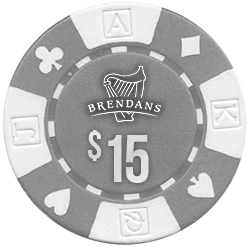 $15 Poker Chip at Brendan's Irish Pub & Restaurant