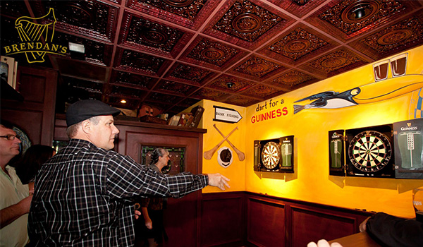 Customers playing darts at Brendan's Irish Pub & Restaurant