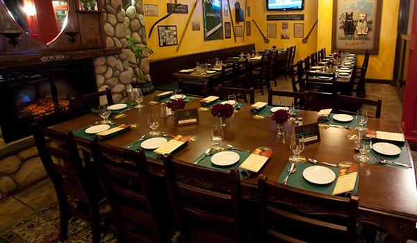 Whiskey Dinner table settings at Brendan's Irish Pub & Restaurant