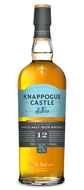 Knappogue 12 Year Old Bourbon Cask Matured Whiskey available at Brendans Irish Pub