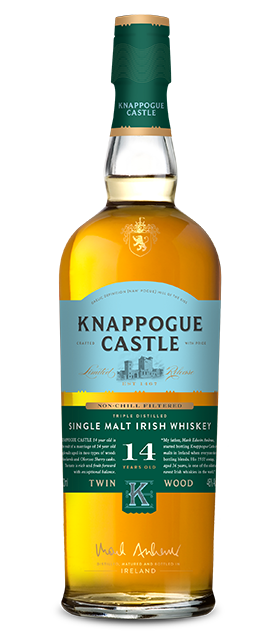 Knappogue 14 Year Old Bourbon Cask Matured Whiskey available at Brendans Irish Pub