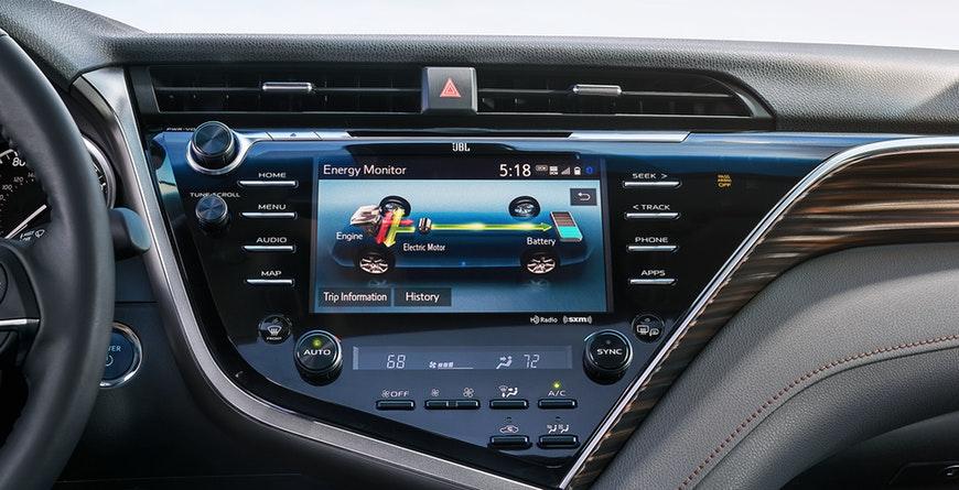 New 2019 Toyota Camry Hybrid Energy Monitor
