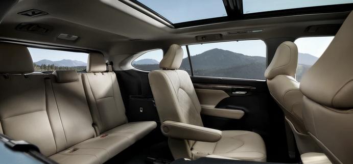 New 2020 Toyota Highlander Third-row seating
