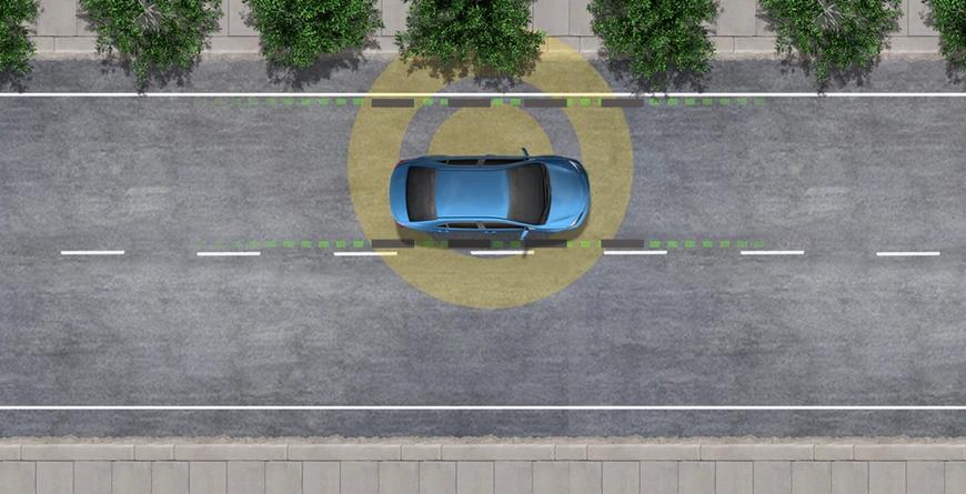 New 2020 Toyota Highlander Lane Departure Alert with Steering Assist