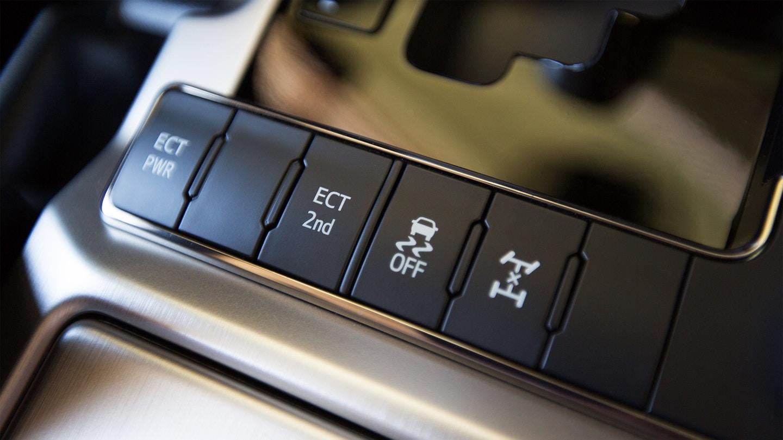 New 2020 Toyota Land Cruiser Buttons
