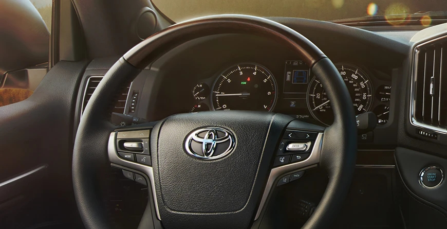 Leather-Trimmed, heated steering wheel.