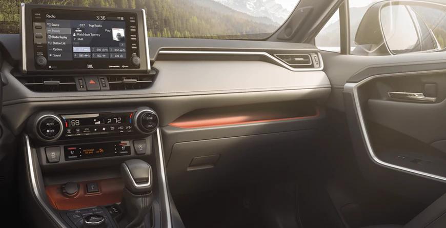New 2020 Toyota RAV4 Intuitive Storage Tray and Passenger Shelf