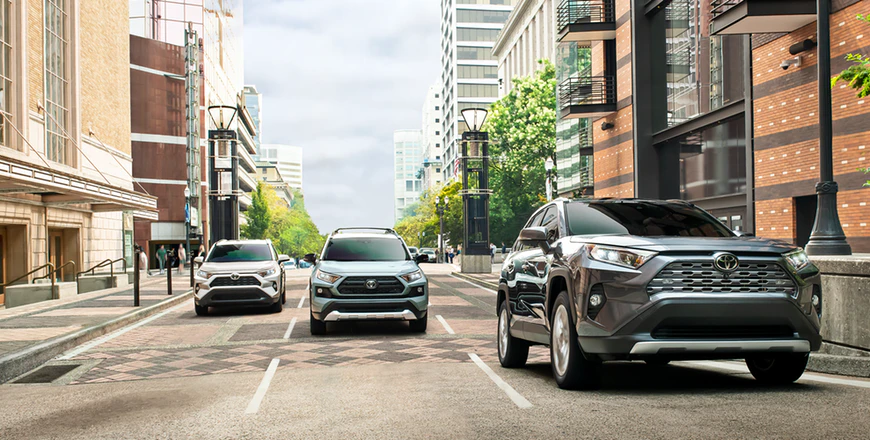 New 2020 Toyota RAV4 Front and Rear Parking Assist with Automated Braking