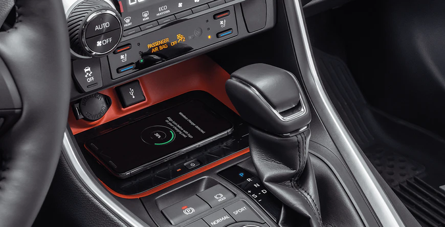 New 2020 Toyota RAV4 USB Ports and Qi-Compatible Wireless Charger